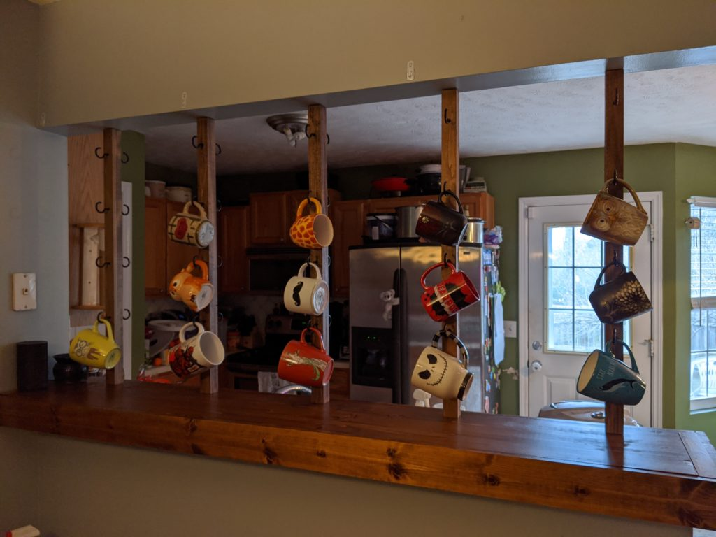 mug rack completed