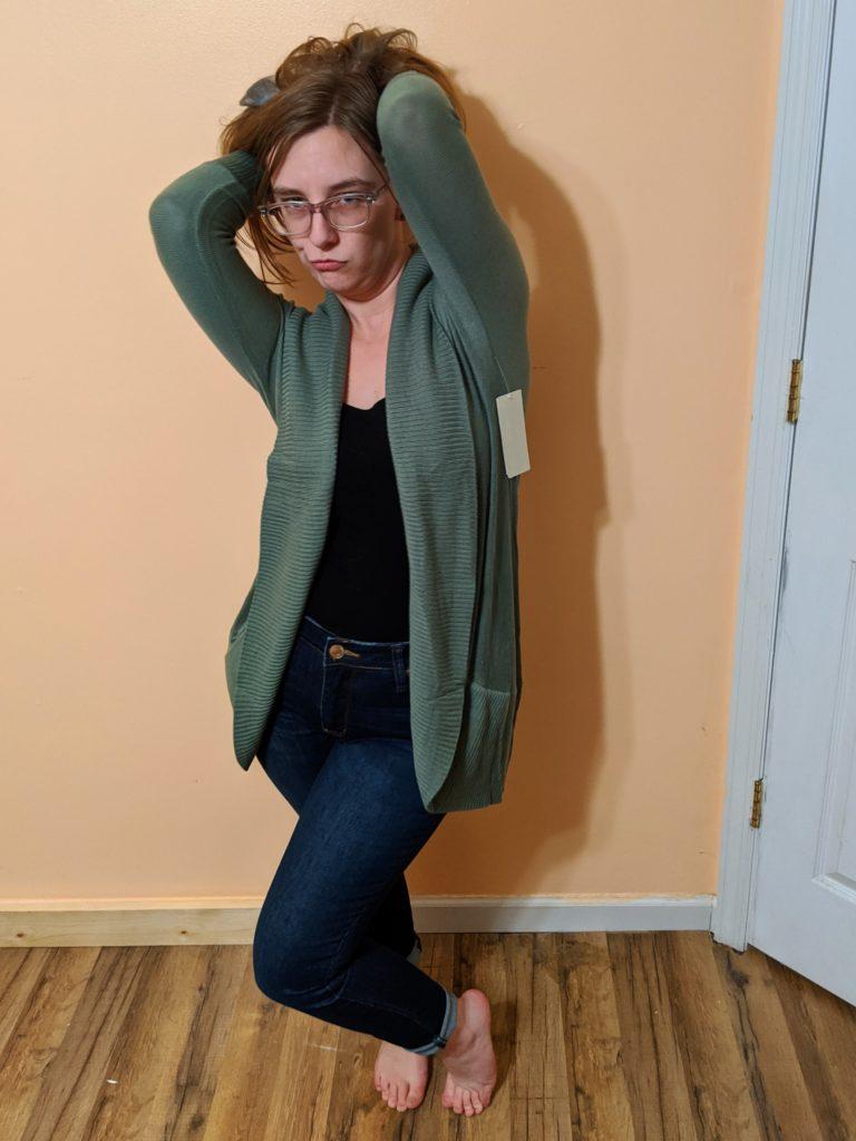 jeans & cardigan