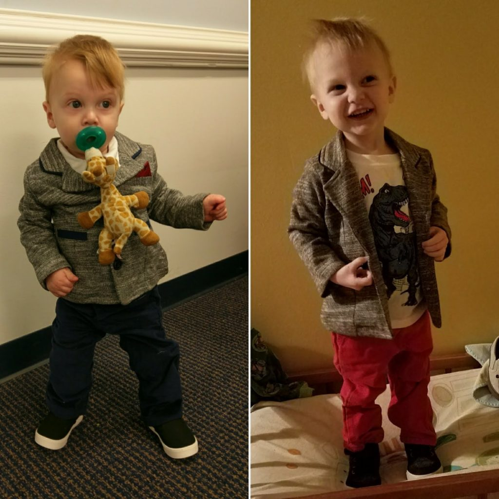 Wade at 1yo and 2yo.
