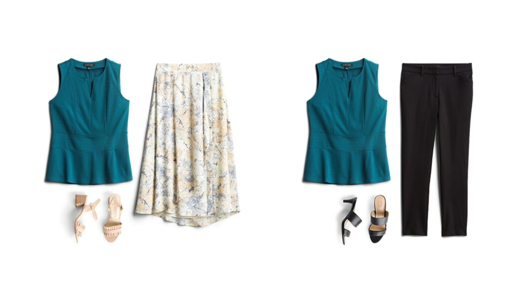 peplum top outfit suggestions from the stylist